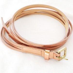J. Crew Rose Gold Skinny Belt